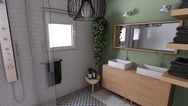 Projet j + m - salle de bain parentale